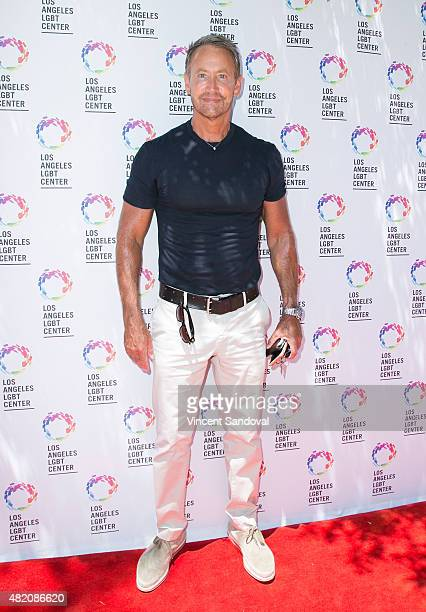 Writer Peter Marc Jacobson attends the Los Angeles LGBT Center annual garden party on July 26 2015 in Los Angeles California