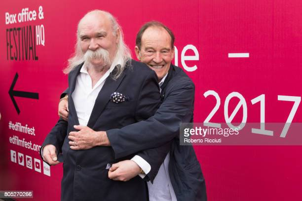 Writer Peter McDougall and actor David Hayman attend a photocall for the projection of 'A Sense of Freedom' during the 71st Edinburgh International...