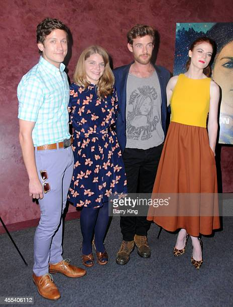Writer Phil Graziadei director Leigh Janiak actor Harry Treadaway and actress Rose Leslie attend the Los Angeles premiere of 'Honeymoon' at the...