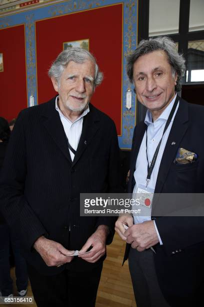Writer Philippe Maynial and Journalist Patrick de Carolis attend Tribute To JeanClaude Brialy during 'Journees Nationales du Livre et du Vin'on May...