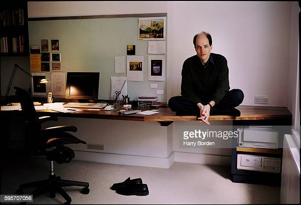 Writer philosopher and television presenter Alain De Botton is photographed for House Garden magazine on September 7 2004 in London England