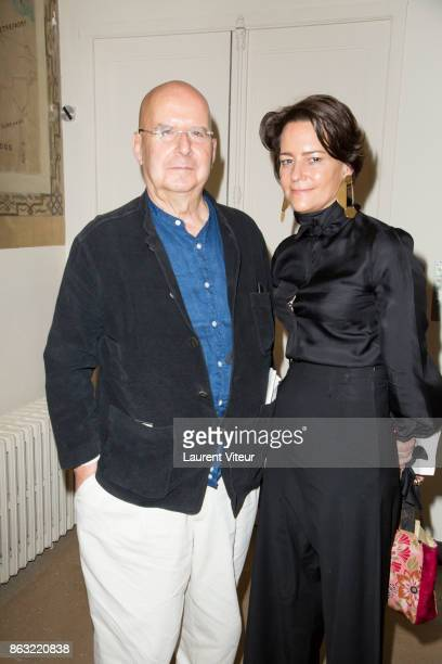 Writer Pierre Guyotat and Martine d'AnglejanChatillon attend 'Tombeau pour Cinq Cent Mille Soldats' the Reading for 50th anniversary of the book at...