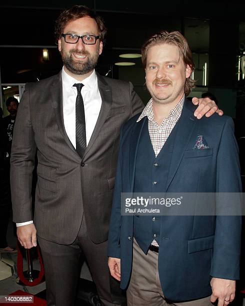 Writer / Producers Eric Wareheim and Tim Heidecker attend the 'Tim Eric'$ Billion Dollar Movie' Los Angeles premiere at the ArcLight Hollywood on...