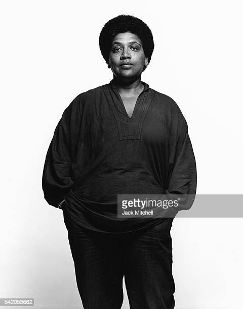 Writer radical feminist womanist lesbian and civil rights activist Audre Lorde 1983 Photo by Jack Mitchell/Getty Images