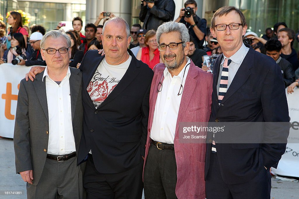 Writer Richard Nelson, Director Roger Michell and Producers David Aukin and Kevin Loader attend the 'Hyde Park On Hudson' premiere during the 2012 Toronto International Film Festival at Roy Thomson Hall on September 10, 2012 in Toronto, Canada.