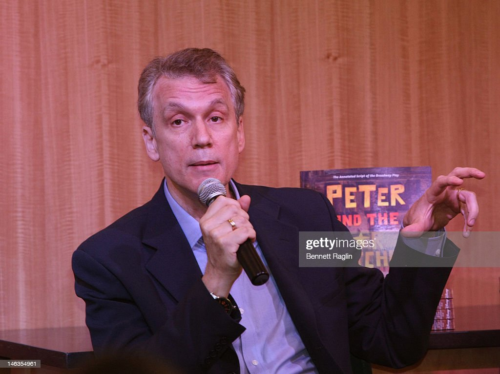 Writer Rick Elice attends 'Peter And The Starcatcher' Q & A And Autograph Signing at Barnes & Noble, 86th & Lexington on June 14, 2012 in New York City.