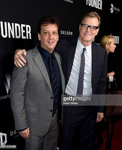 Writer Robert D Siegel and director John Lee Hancock arrive at the premiere of the Weinstein Company's 'The Founder' at the Cinerama Dome on January...