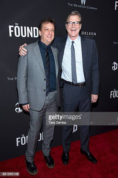 Writer Robert D Siegel and director John Lee Hancock arrive to the premiere of The Weinstein Company's 'The Founder' at ArcLight Cinemas Cinerama...