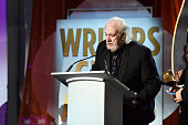 Writer Robert Towne accepts the Drama Series award for 'Mad Men' onstage during the 2016 Writers Guild Awards at the Hyatt Regency Century Plaza on...