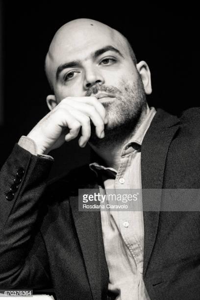 Writer Roberto Saviano attends Tempo Di Libri Book Show on April 19 2017 in Milan Italy