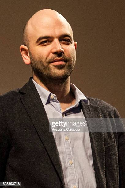 Writer Roberto Saviano attends the ceremony of Raymond Chandler Award at Teatro Sociale on December 7 2016 in Como Italy