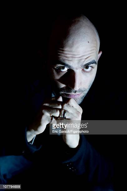 Writer Roberto Saviano poses at a photo shoot for Le Figaro on May 2 2009 in Paris France Figaro ID 084422016 CREDIT MUST READ Eric...