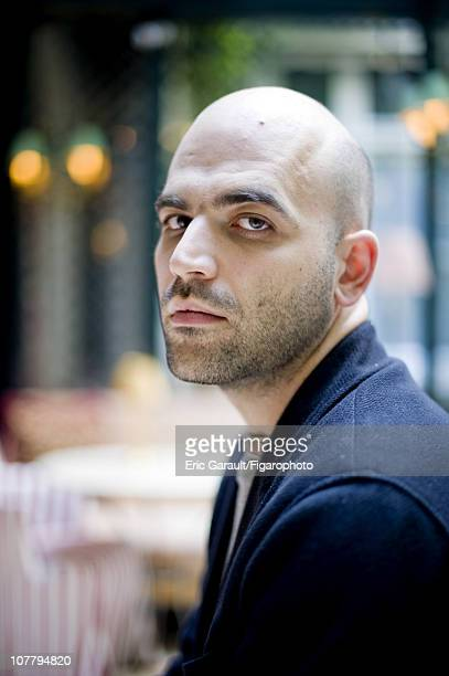 Writer Roberto Saviano poses at a photo shoot for Le Figaro on May 2 2009 in Paris France Figaro ID 084422003 CREDIT MUST READ Eric...