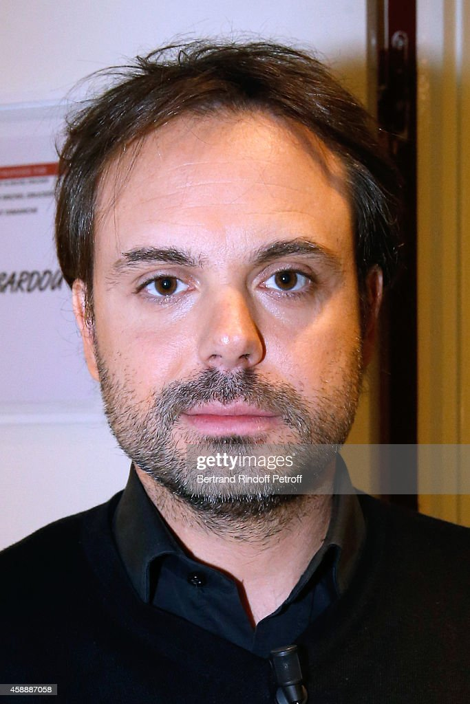 Writer Romain Sardou presents his books 'Fraulein France' and his strip cartoon 'Maxence' during the 'Vivement Dimanche' French TV Show at Pavillon Gabriel on November 12, 2014 in Paris, France.