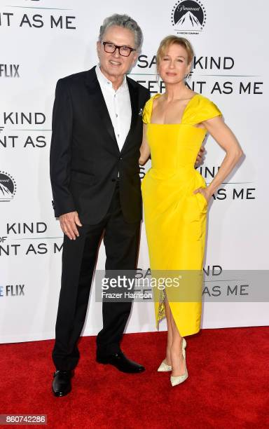 writer Ron Hall and actress Renee Zellweger attend the Premiere Of Paramount Pictures And Pure Flix Entertainment's 'Same Kind Of Different As Me' at...