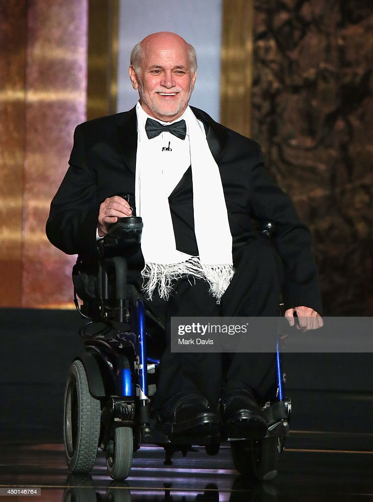 Writer <a gi-track='captionPersonalityLinkClicked' href=/galleries/search?phrase=Ron+Kovic&family=editorial&specificpeople=582259 ng-click='$event.stopPropagation()'>Ron Kovic</a> speaks onstage at the 2014 AFI Life Achievement Award: A Tribute to Jane Fonda at the Dolby Theatre on June 5, 2014 in Hollywood, California. Tribute show airing Saturday, June 14, 2014 at 9pm ET/PT on TNT.