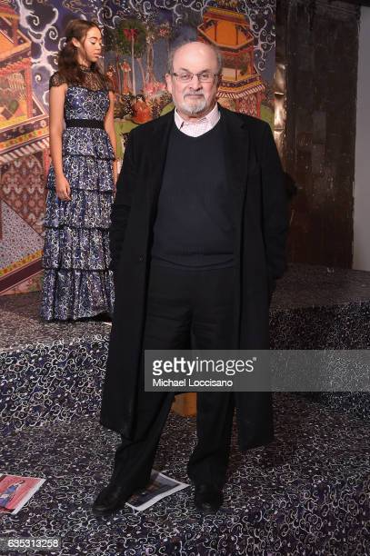Writer Salman Rushdie attends the alice olivia by Stacey Bendet Fall 2017 Presentation at Highline Stages on February 14 2017 in New York City