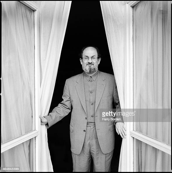 Writer Salman Rushdie is photographed for Q magazine on March 17 1999 in London England