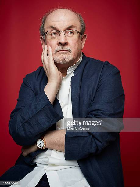 Writer Salman Rushdie is photographed for The Guardian Magazine on July 27 2015 in New York City