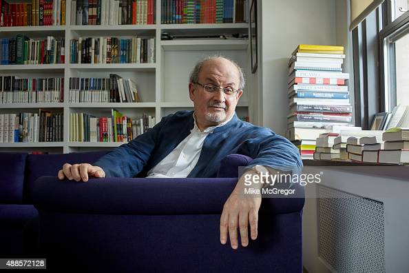 Writer Salman Rushdie is photographed for The Guardian Magazine on July 27 2015 in New York City ON EMBARGO UNTIL OCTOBER 6 2015