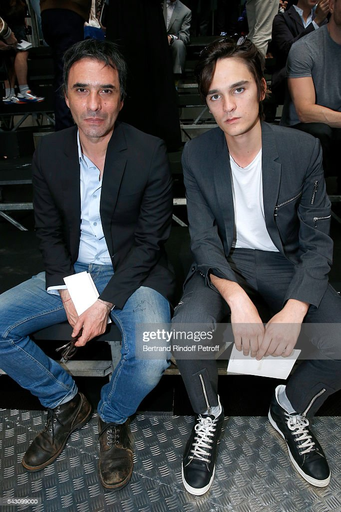 Writer <a gi-track='captionPersonalityLinkClicked' href=/galleries/search?phrase=Samuel+Benchetrit&family=editorial&specificpeople=2856392 ng-click='$event.stopPropagation()'>Samuel Benchetrit</a> and Actor <a gi-track='captionPersonalityLinkClicked' href=/galleries/search?phrase=Alain-Fabien+Delon&family=editorial&specificpeople=10942556 ng-click='$event.stopPropagation()'>Alain-Fabien Delon</a> attend the Dior Homme Menswear Spring/Summer 2017 show as part of Paris Fashion Week on June 25, 2016 in Paris, France.