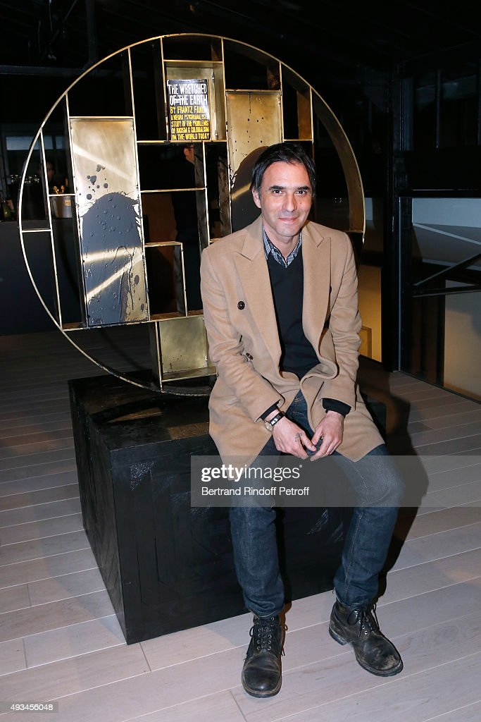 Writer Samuel Benchetrit attends the 'New American Art', Exhibition of Artists Matthew Day Jackson and Rashid Johnson, Opening Cocktail at Studio des Acacias on October 20, 2015 in Paris, France.