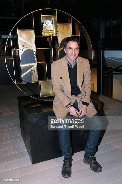 Writer Samuel Benchetrit attends the 'New American Art' Exhibition of Artists Matthew Day Jackson and Rashid Johnson Opening Cocktail at Studio des...