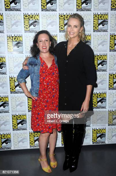 Writer Sara Vilkomerson and actor Charlize Theron attend Entertainment Weekly's Women Who Kick Ass Icon Edition with Charlize Theron during ComicCon...