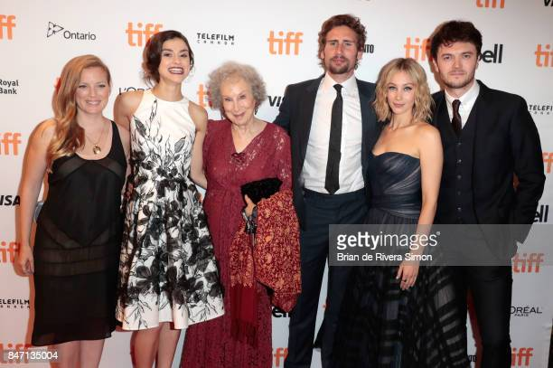 Writer Sarah Polley actress Rebecca Liddiard writer Margaret Atwood actor Edward Holcroft Sarah Gadon and Kerr Logan attend the 'Alias Grace'...
