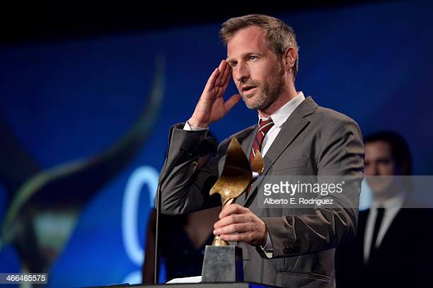 Writer Spike Jonze accepts the 'Best Original Screenplay' award for 'Her' onstage at the 2014 Writers Guild Awards LA Ceremony at JW Marriott at LA...