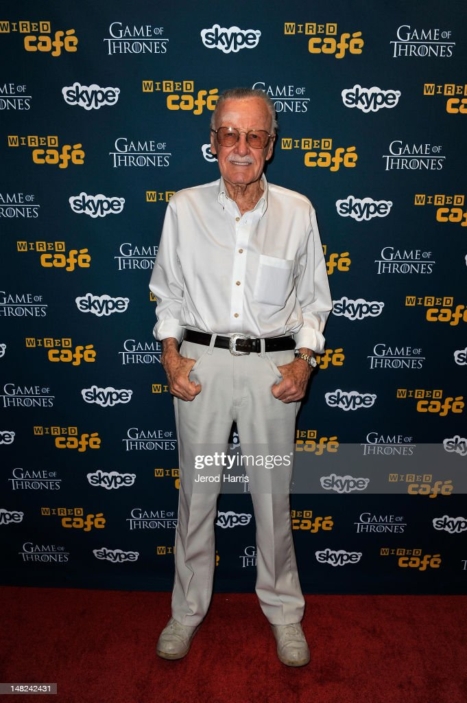 Writer <a gi-track='captionPersonalityLinkClicked' href=/galleries/search?phrase=Stan+Lee&family=editorial&specificpeople=206380 ng-click='$event.stopPropagation()'>Stan Lee</a> attends WIRED Cafe at Comic-Con held at Palm Terrace at the Omni Hotel on July 12, 2012 in San Diego, California.