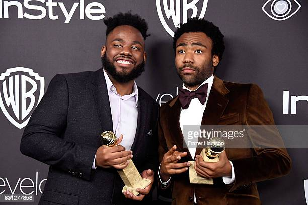 Writer Stephen Glover and actor/writer Donald Glover winners of Best Series Musical or Comedy for 'Atlanta' attend the 18th Annual PostGolden Globes...