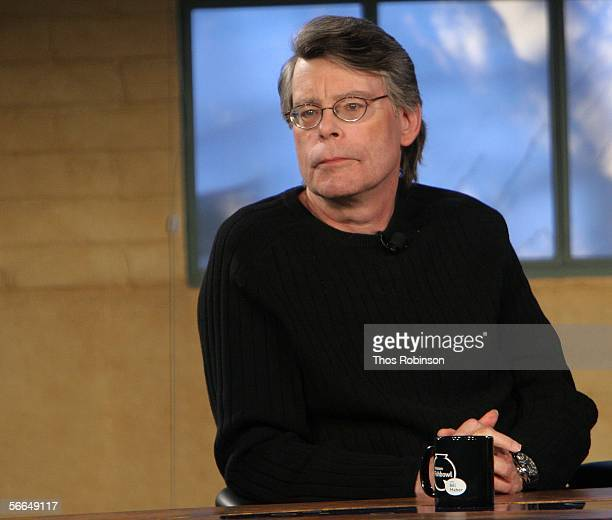 Writer Stephen King speaks at the Amazon Fishbowl with Bill Maher at the Shop during the 2006 Sundance Film Felstival on January 23 2006 in Park City...