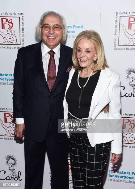 Writer Stephen MaitlandLewis and PDS Chair Joni Berry arrive at the 30th Annual Gypsy Awards Luncheon at The Beverly Hilton Hotel on April 23 2017 in...