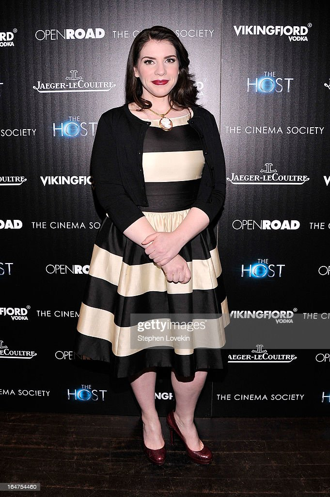 Writer Stephenie Meyer attends The Cinema Society and Jaeger-LeCoultre Hosts A Screening Of 'The Host' at Tribeca Grand Hotel on March 27, 2013 in New York City.