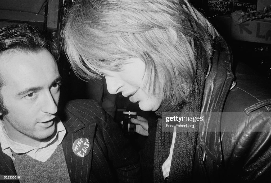 NME writer Steve Clarke with Generation X manager Stewart Joseph Hope and Anchor London November 1976