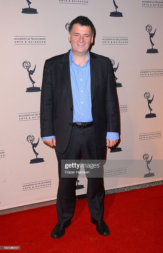 Writer Steven Moffat arrives at The Academy Of Television Arts & Sciences Writer Nominees' 64th Primetime Emmy Awards Reception at Academy of Television Arts & Sciences on September 20, 2012 in North Hollywood, California.