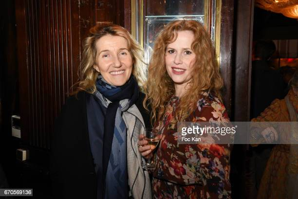 Writer Sylvie Bourgeois Harel and actress Florence Darel attend 'La Closerie Des Lilas' Literary Awards 2016 At La Closerie Des Lilas on April 20...
