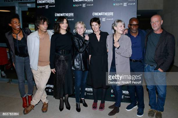 Writer Tania de Montaigne actor of the movie Paul Blain actress of the movie Juliette Binoche director and coscriptwriter of the movie Claire Denis...