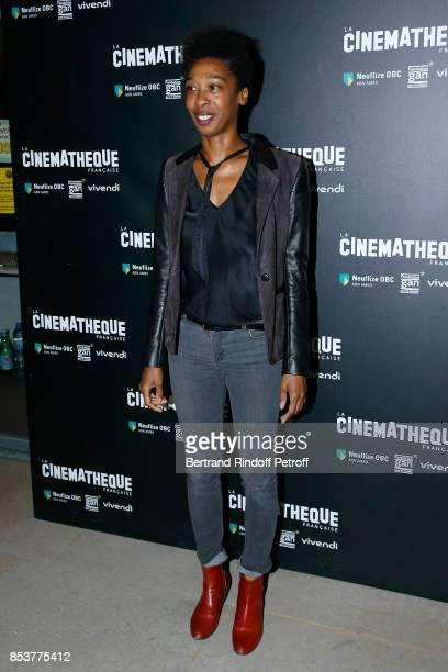 Writer Tania de Montaigne attends the 'Un beau soleil interieur' Paris Premiere at La Cinematheque on September 25 2017 in Paris France