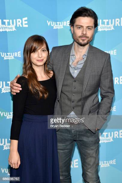 Writer Tara Armstrong and actor Richard Short attend the Mary Kills People panel discussion during the 2017 Vulture Festival at Milk Studios on May...