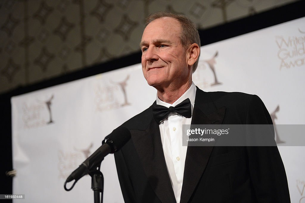 Writer Ted Mann, winner of the Writers Guild Award for Long Form - Original TV, poses in the press room during the 2013 WGAw Writers Guild Awards at JW Marriott Los Angeles at L.A. LIVE on February 17, 2013 in Los Angeles, California.