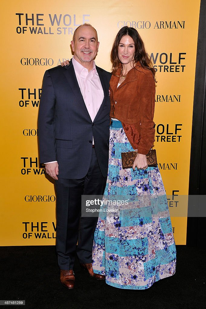 Writer <a gi-track='captionPersonalityLinkClicked' href=/galleries/search?phrase=Terence+Winter&family=editorial&specificpeople=2922082 ng-click='$event.stopPropagation()'>Terence Winter</a> and Rachel Winter attend Giorgio Armani Presents: 'The Wolf Of Wall Street' world premiere at the Ziegfeld Theatre on December 17, 2013 in New York City.
