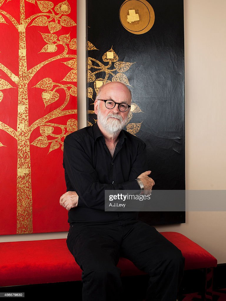 Writer Terry Pratchett is photographed for the Telegraph in London, England.