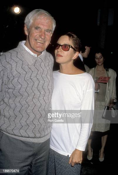 Writer Timothy Leary and wife Barbara Chase attend the 'Great Balls of Fire' West Hollywood Premiere on June 29 1989 at DGA Theatre in West Hollywood...