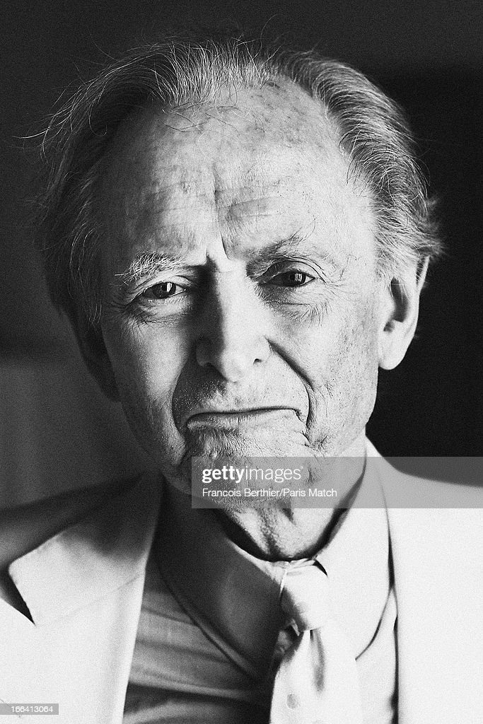 Writer <a gi-track='captionPersonalityLinkClicked' href=/galleries/search?phrase=Tom+Wolfe+-+Writer&family=editorial&specificpeople=13712137 ng-click='$event.stopPropagation()'>Tom Wolfe</a> is photographed for Paris Match on March 29, 2013 in London, England.