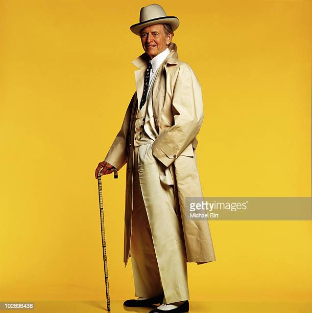 Writer Tom Wolfe poses for a portrait shoot in New York