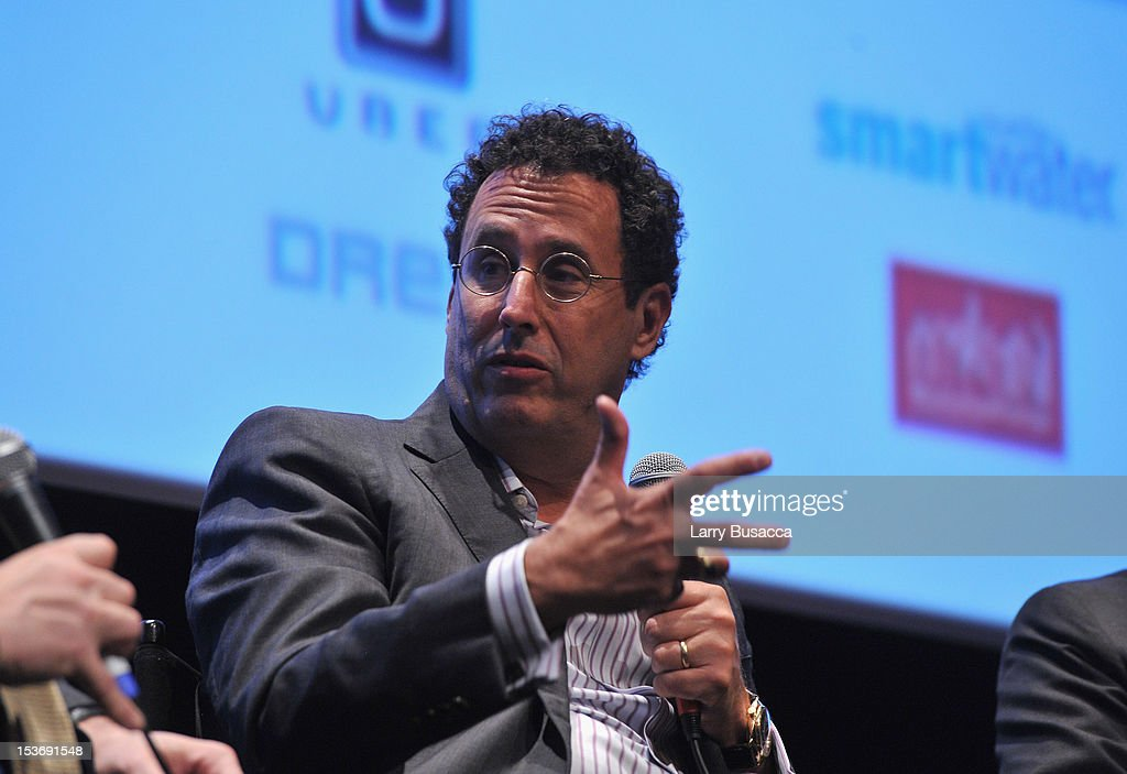 Writer <a gi-track='captionPersonalityLinkClicked' href=/galleries/search?phrase=Tony+Kushner&family=editorial&specificpeople=209161 ng-click='$event.stopPropagation()'>Tony Kushner</a> speaks onstage at NYFF 50th Anniversary surprise screening of Lincoln at Alice Tully Hall on October 8, 2012 in New York City.