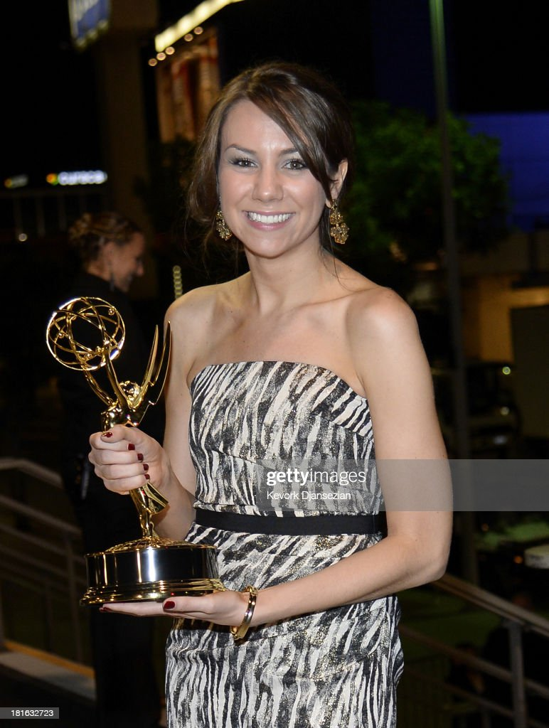 Writer Tracey Wigfield, winner of Best Writing for a Comedy Series Award for '30 Rock'attends the Governors Ball during the 65th Annual Primetime Emmy Awards at Nokia Theatre L.A. Live on September 22, 2013 in Los Angeles, California.
