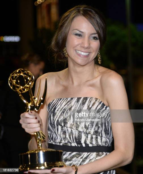 Writer Tracey Wigfield winner of Best Writing for a Comedy Series Award for '30 Rock'attends the Governors Ball during the 65th Annual Primetime Emmy...